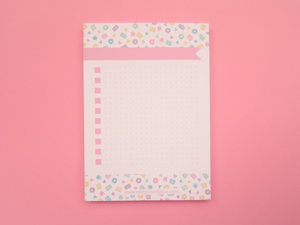 Pastel Biscuits To-Do list Notepad - A6