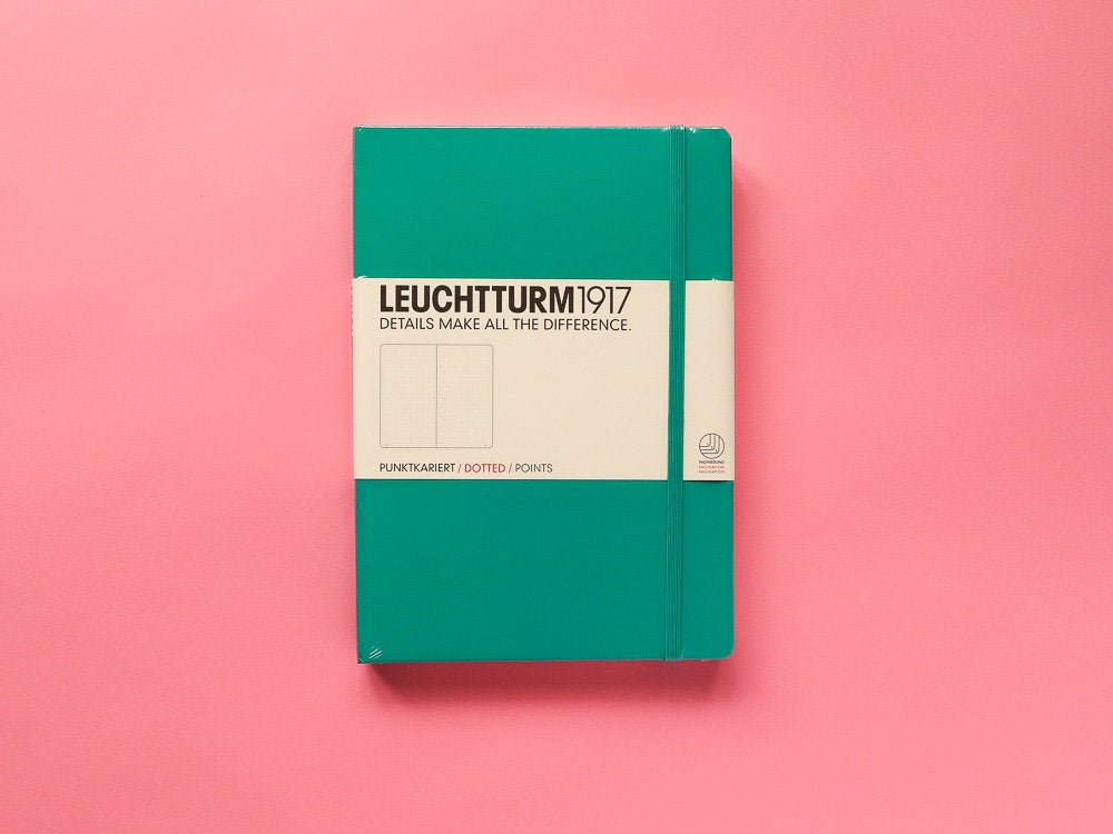 Leuchtturm 1917 Dotted Bullet Journal - Emerald A5 Hardback