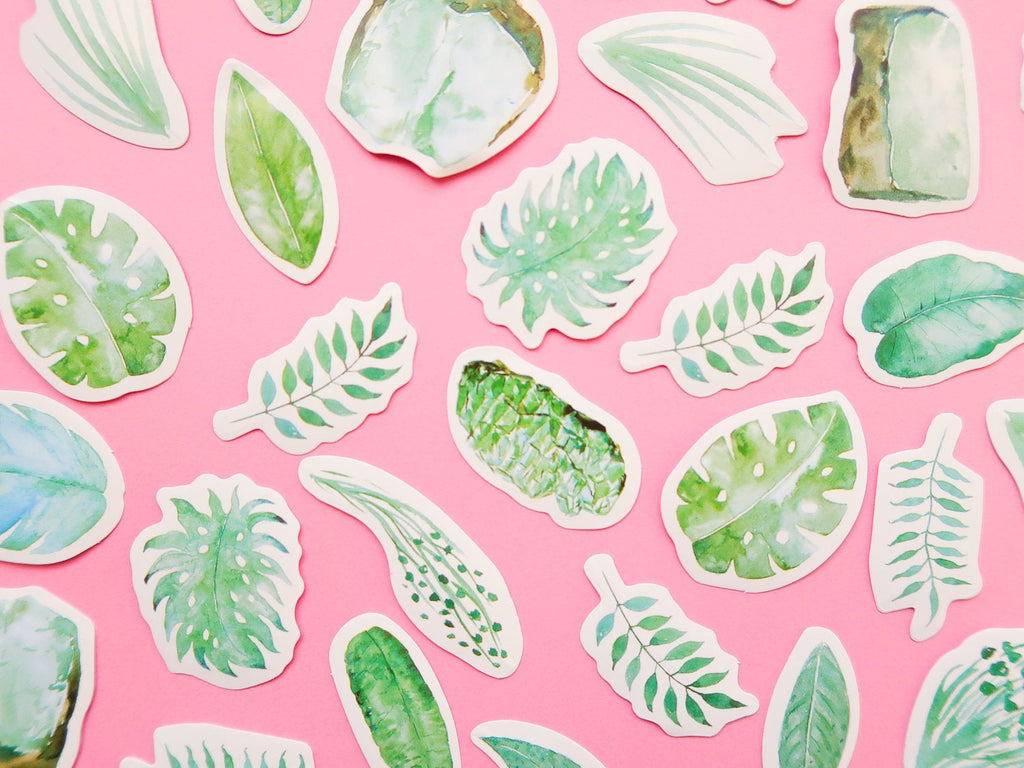 Leaf Paper Stickers