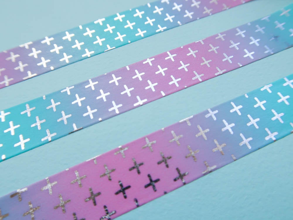 Ombre Crosses Washi Tape