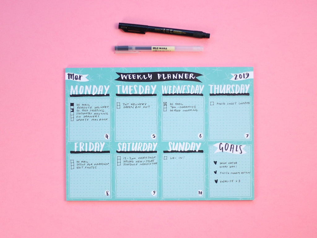 Weekly Planner Pad - A4