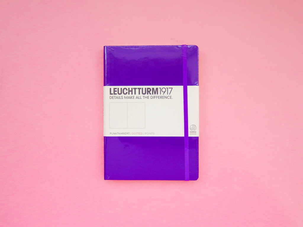 Leuchtturm 1917 Dotted Bullet Journal - Dark Purple A5 Hardback