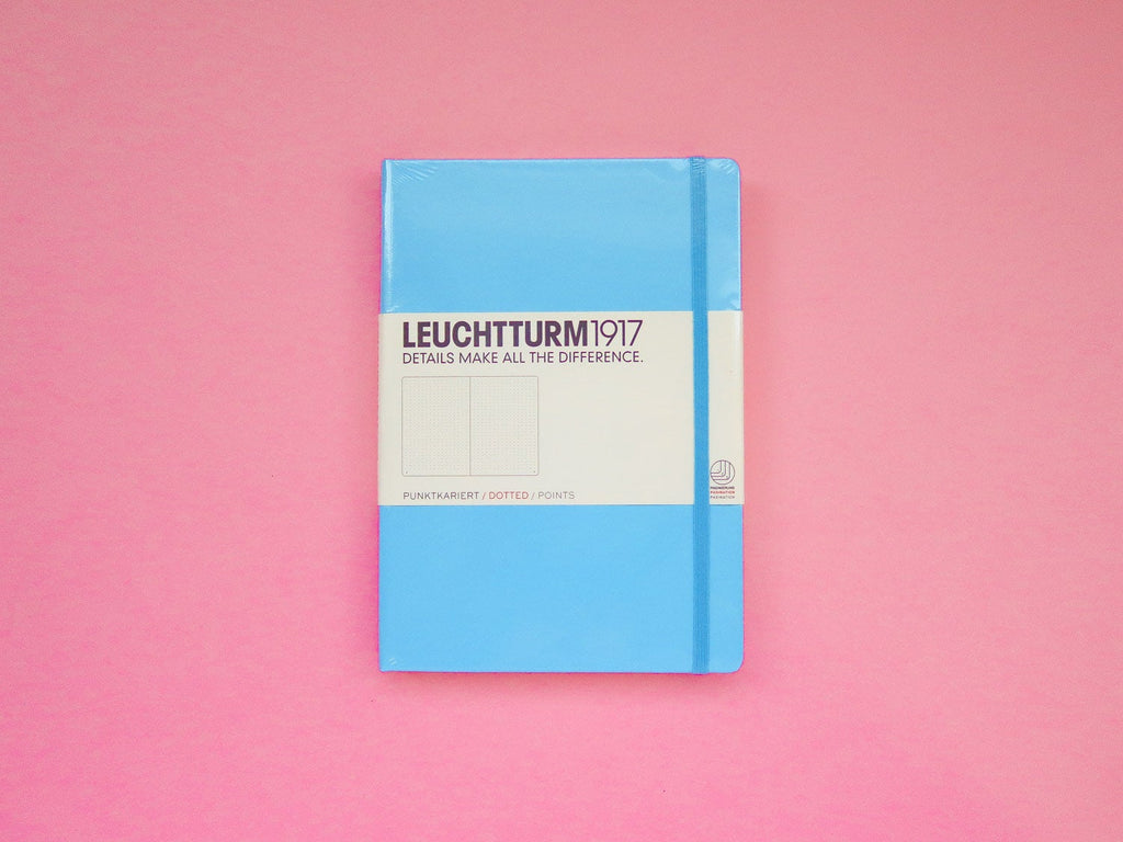 Leuchtturm 1917 Dotted Bullet Journal - Ice Blue A5 Hardback