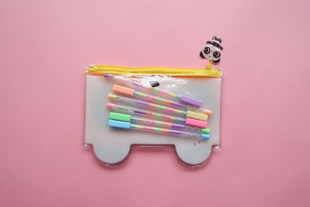 Kawaii Panda Puff Pencil Case