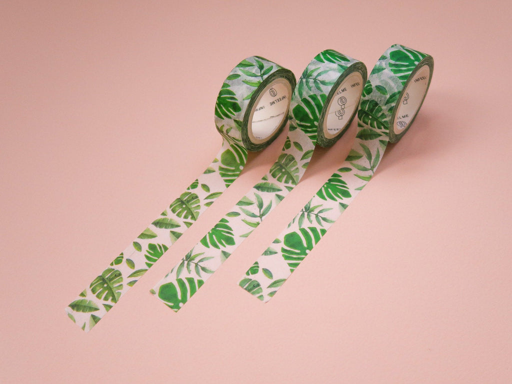 Monstera Leaf Washi Tape