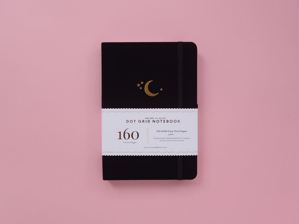 Dot Grid Journal - Crescent Moon