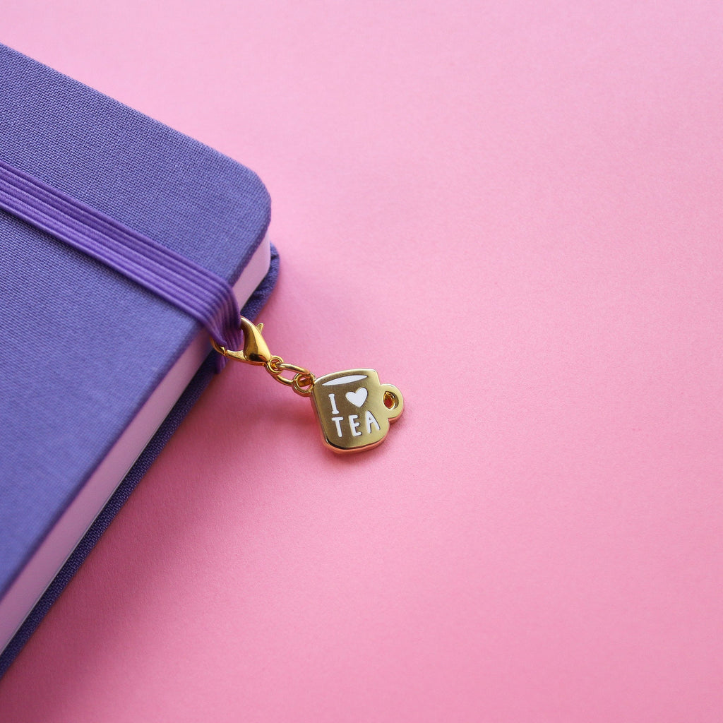 Golden Jammy Heart Bullet Journal Charm