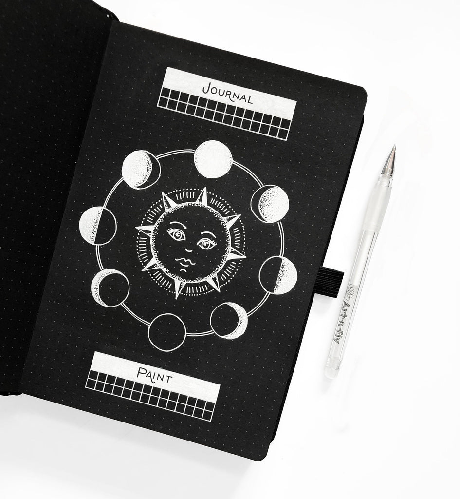 Blackout Book -Shooting Star Dot Grid Journal