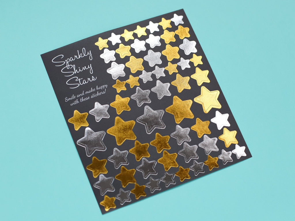 Gold & Silver Star Stickers