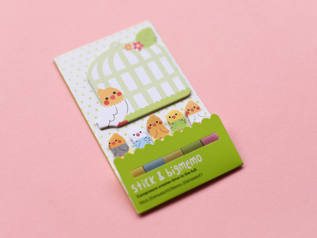 Big and Small Birdy Sticky Page Markers