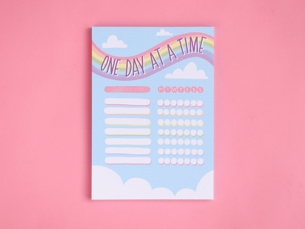 One Day At A Time Tracker Pad - A5