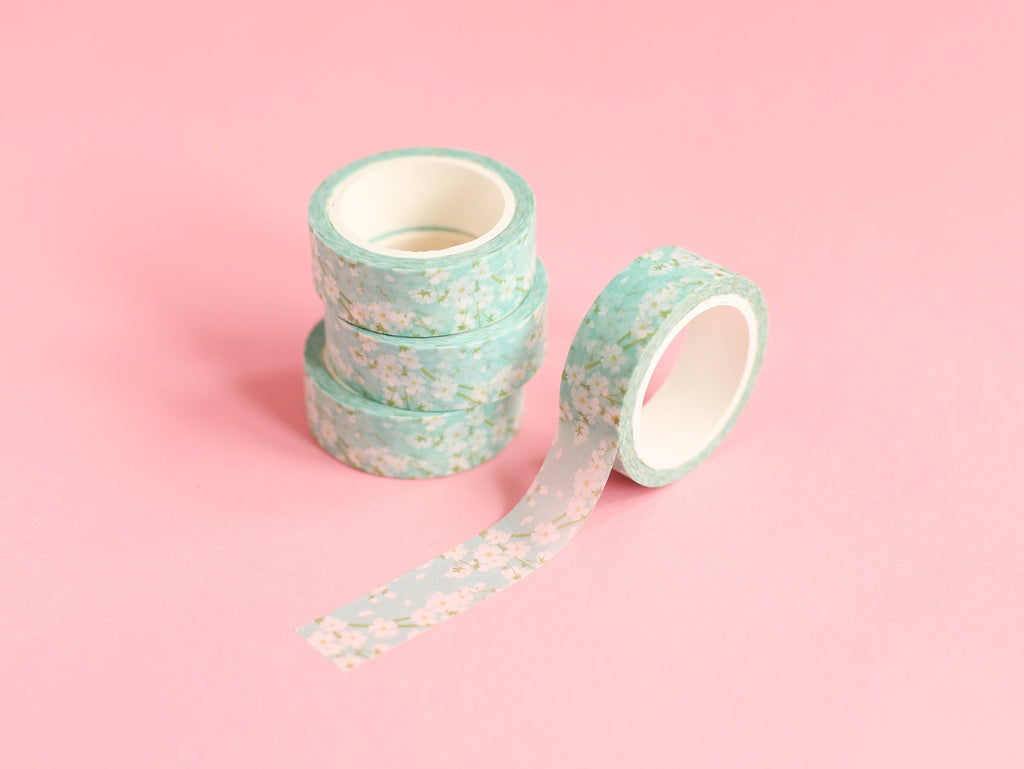 Daisies on Blue Washi Tape