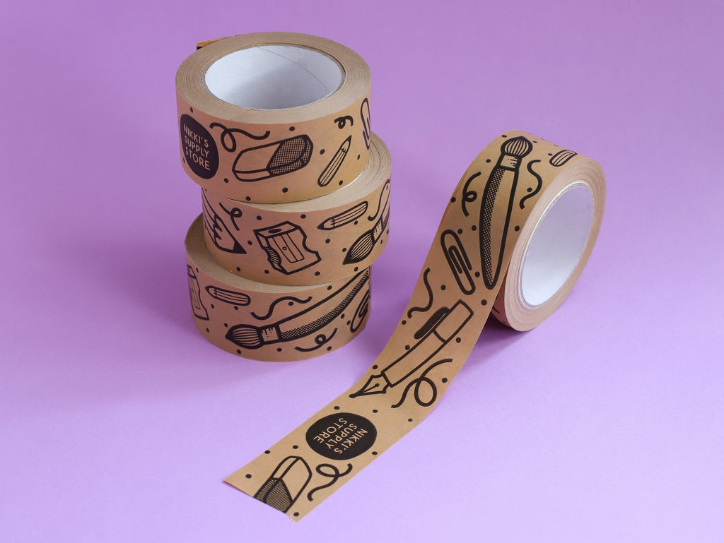 Stationery Kraft Paper Parcel Tape