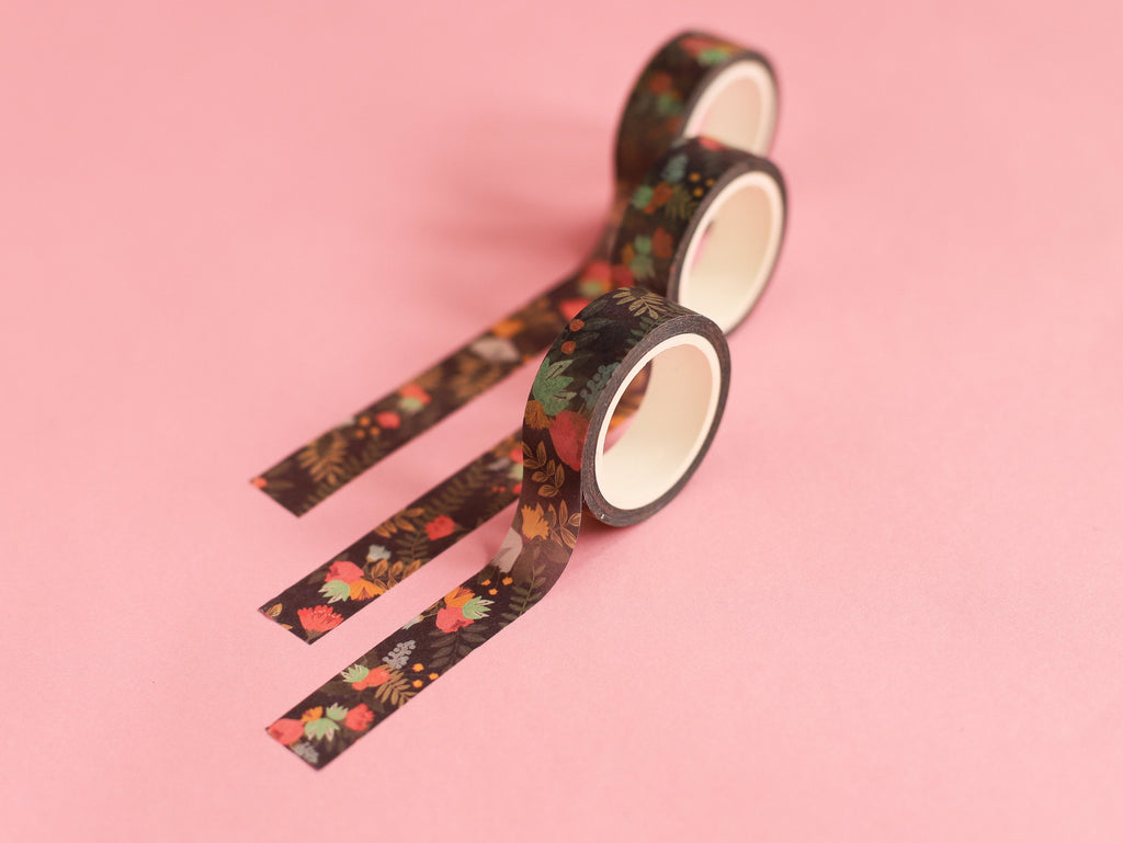 Dark Florals Washi Tape