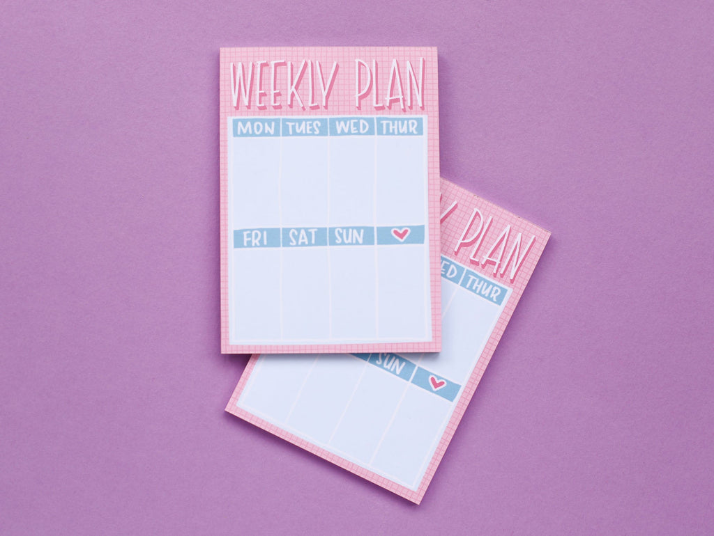Mini Weekly Planner Notepad - A6