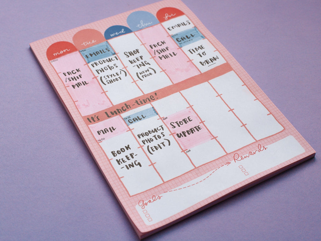 Weekly Schedule Pad - A4