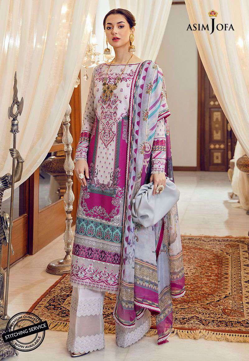 Ladies Un-Stitch Rabt Luxury Lawn Collection AJRL-14