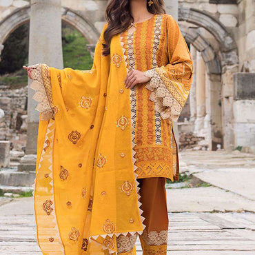 Ladies Un-Stitch Luxury Chikankari'21 Design GUZEL-7B