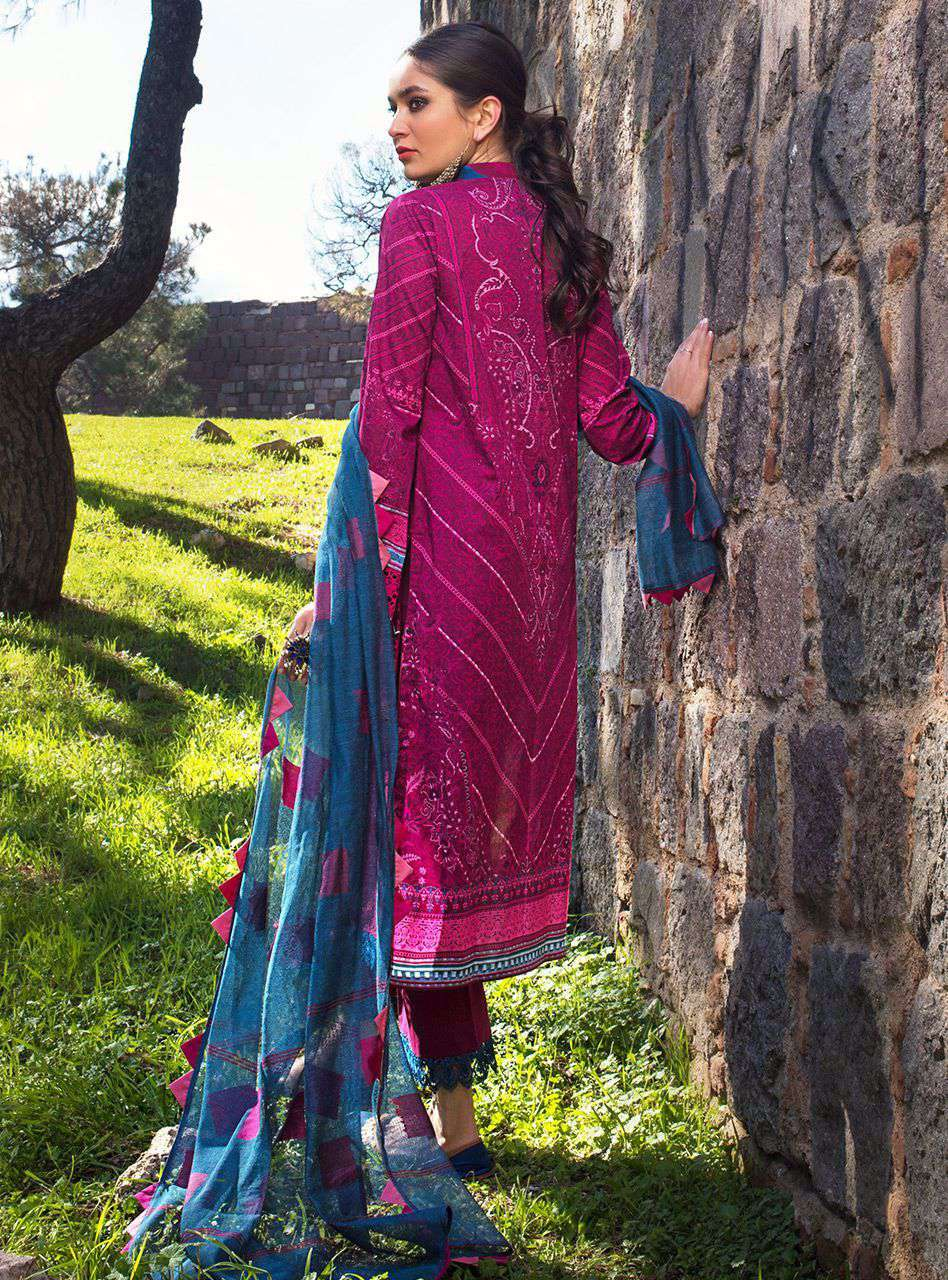 Ladies Un-Stitch Luxury Chikankari'21 Design YILDIZ-5A