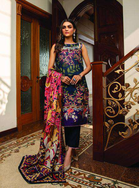 Ladies Un-Stitch Anum Printed Lawn Vol-01 (ANL1'21-01A)