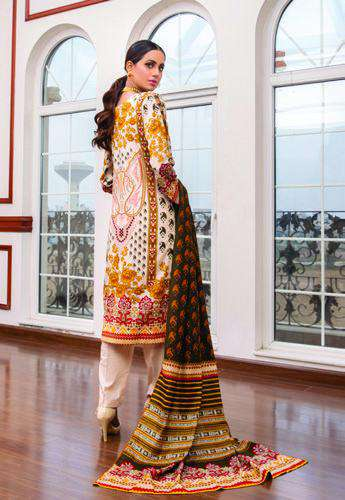 Ladies Un-Stitch Anum Printed Lawn Vol-01 (ANL1'21-02A)