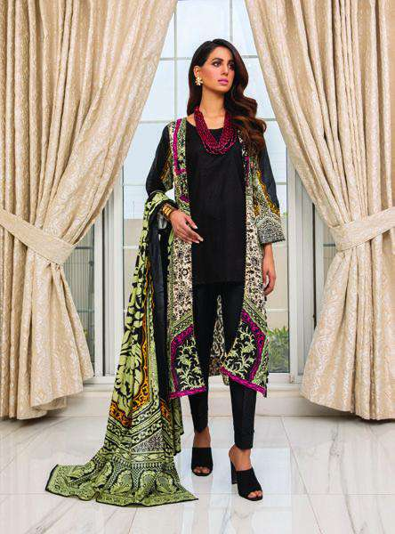 Ladies Un-Stitch Anum Printed Lawn Vol-01 (ANL1'21-05A)