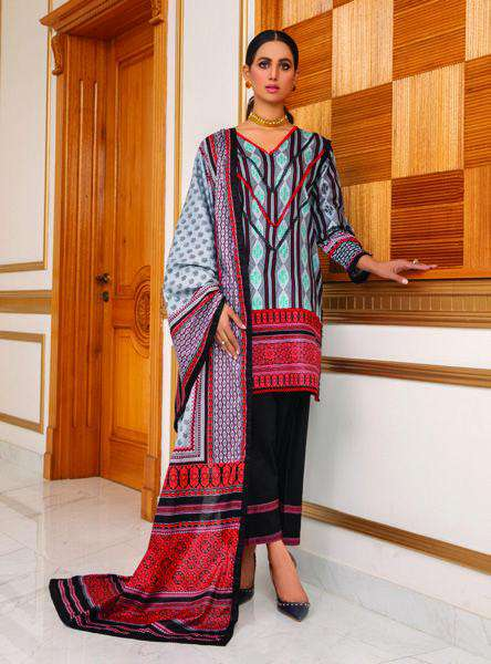 Ladies Un-Stitch Anum Printed Lawn Vol-01 (ANL1'21-06C)