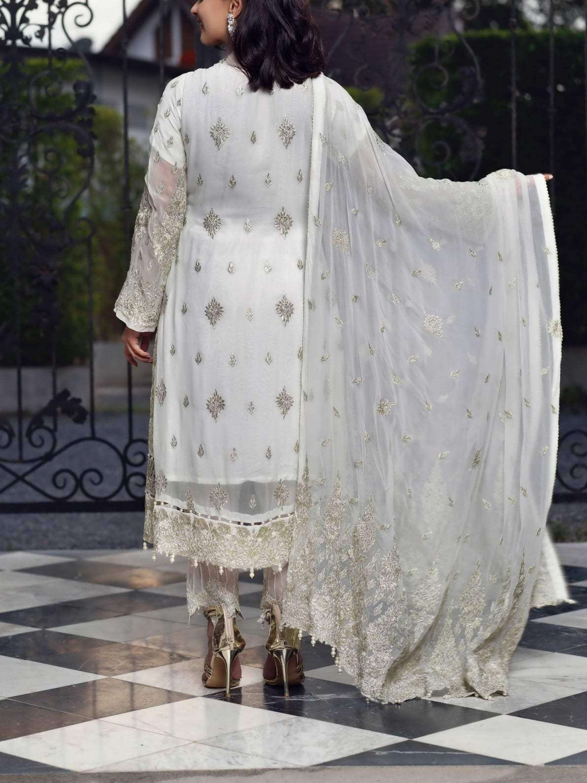 Ladies Un-Stitch Bemisal Luxury Chiffon Collection 2020 Glass Glour-BVS06