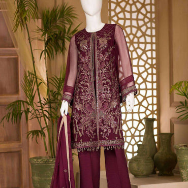 Ladies Un-Stitch Nafeesah Embroidered Chiffon Vol-3 (06-SPRUCE)
