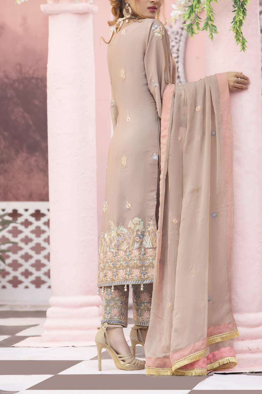 Ladies Un-Stitch  Bemisal Pure Crape/Silk Collection'2020 V.S Textile D-10