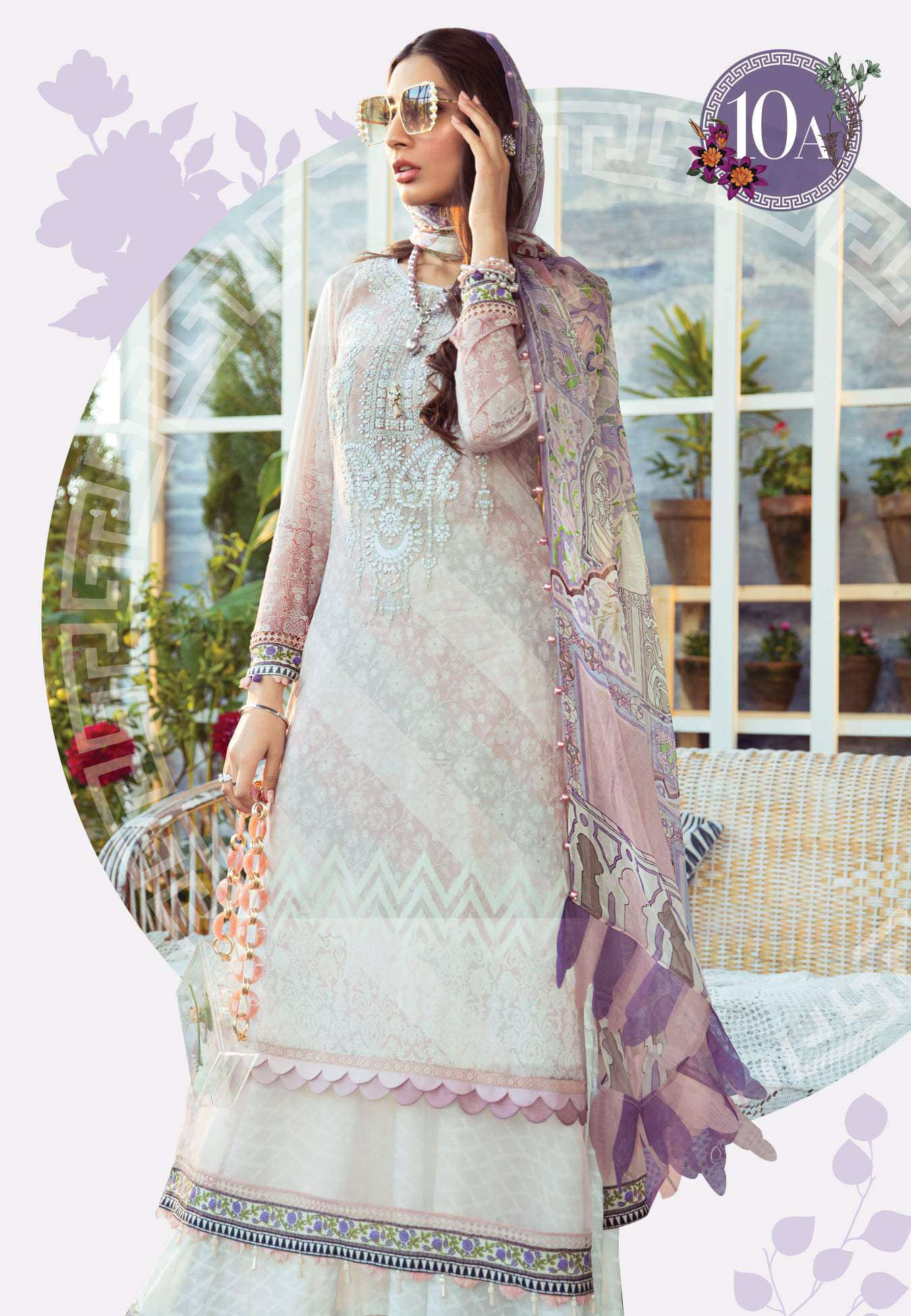 Ladies Un-Stitch Maria.B Mprints Lawn 2021 (10A)
