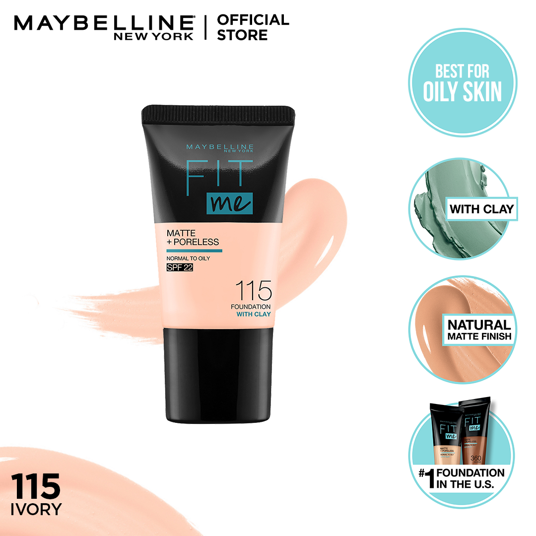 Maybelline Fit Me Matte & Poreless Foundation 18ml -115 - Ivory