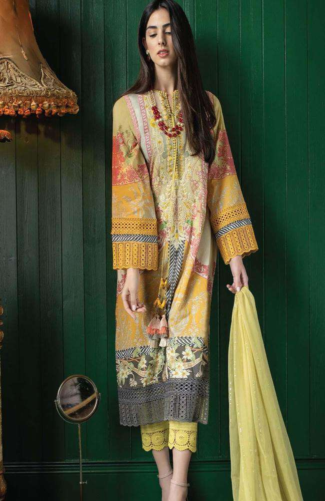 Ladies Un-Stitch Vital Embroidered Lawn 2021 (11b)