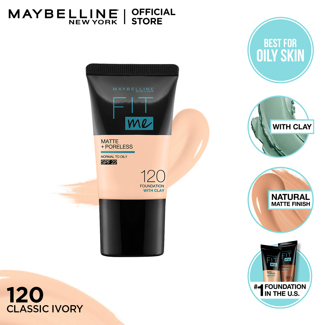 Maybelline Fit Me Matte & Poreless Foundation 18ml -120 - Classic Ivory