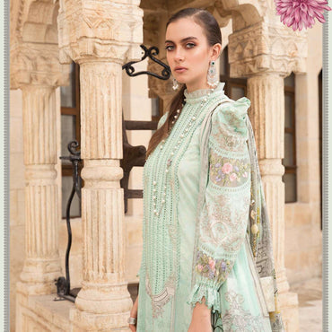 Ladies Un-Stitch Maria.B Luxury Lawn 2021 D-2115-A