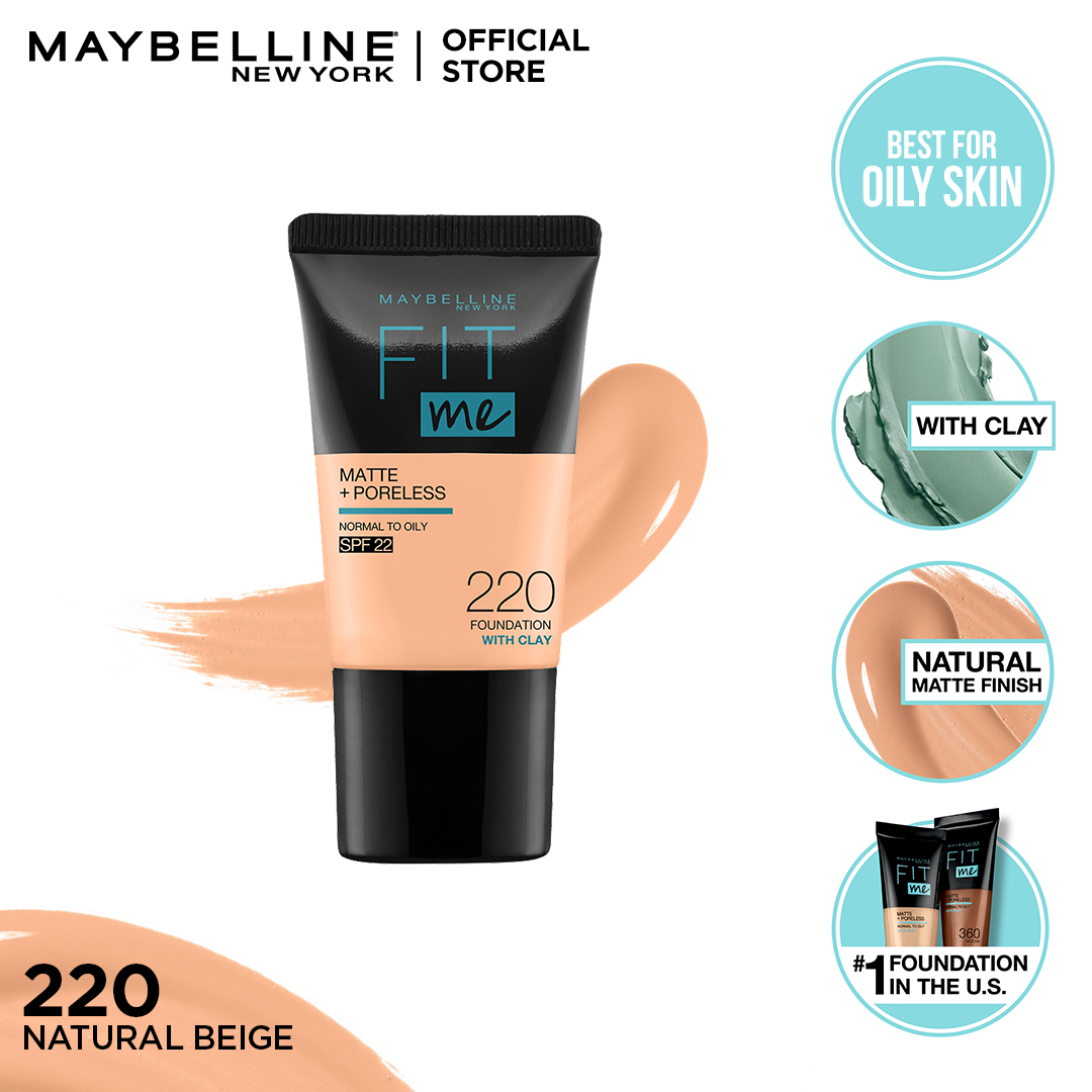 Maybelline Fit Me Matte & Poreless Foundation 18ml -220 - Natural Beige
