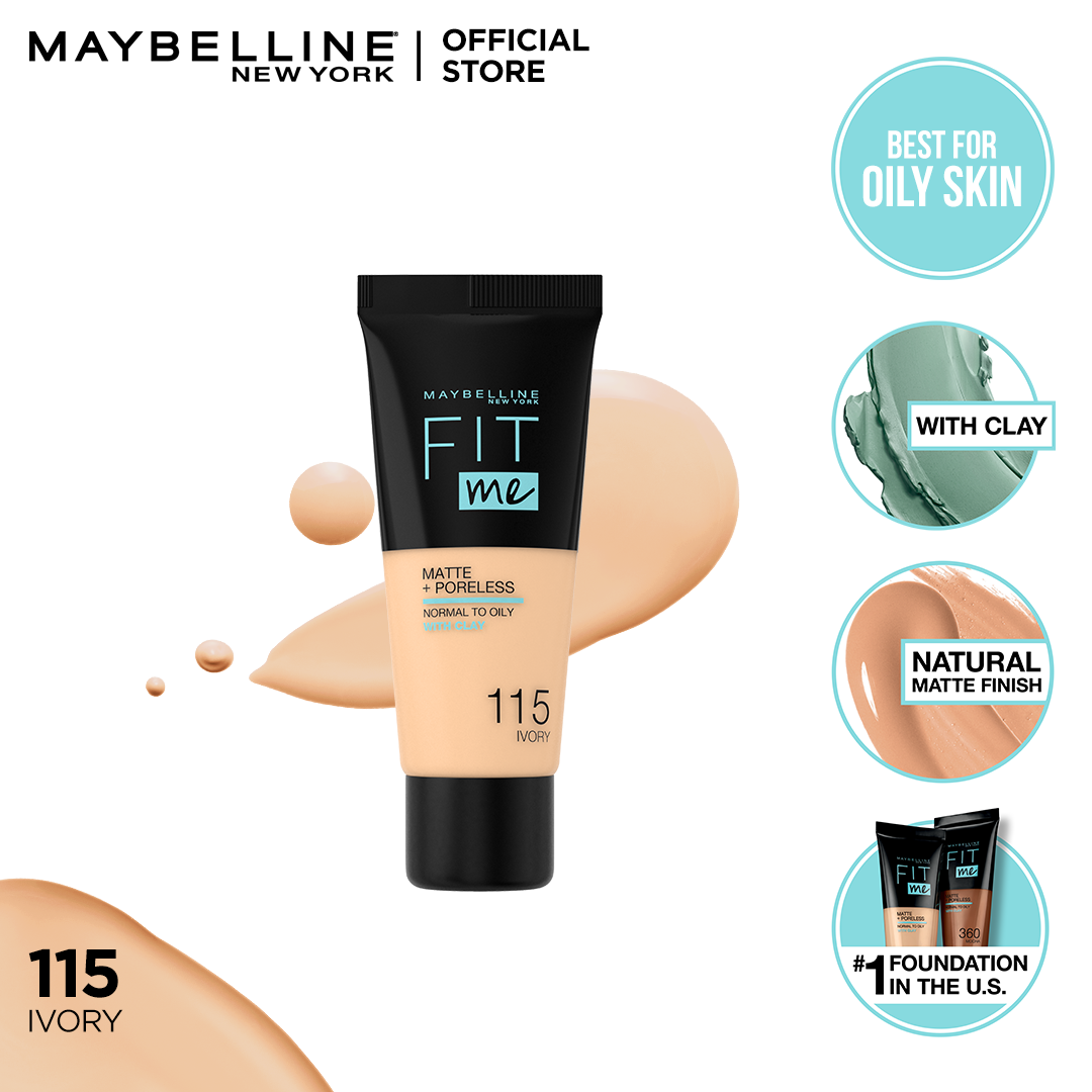 MAYBELLINE FIT ME MATTE & PORELESS FOUNDATION 30ml -115 - Ivory