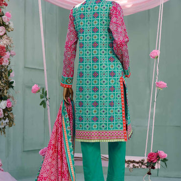 Ladies Un-Stitch Diamond Classic Printed Lawn Vol-02 (DCP-10-A Ferozi)