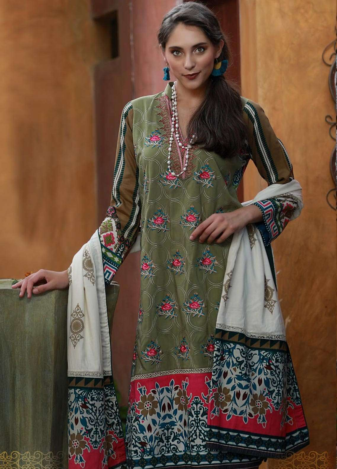 Ladies Un-Stitch LSM Mahapaykar Embroidered Viscose Collection (ME-9905-B)