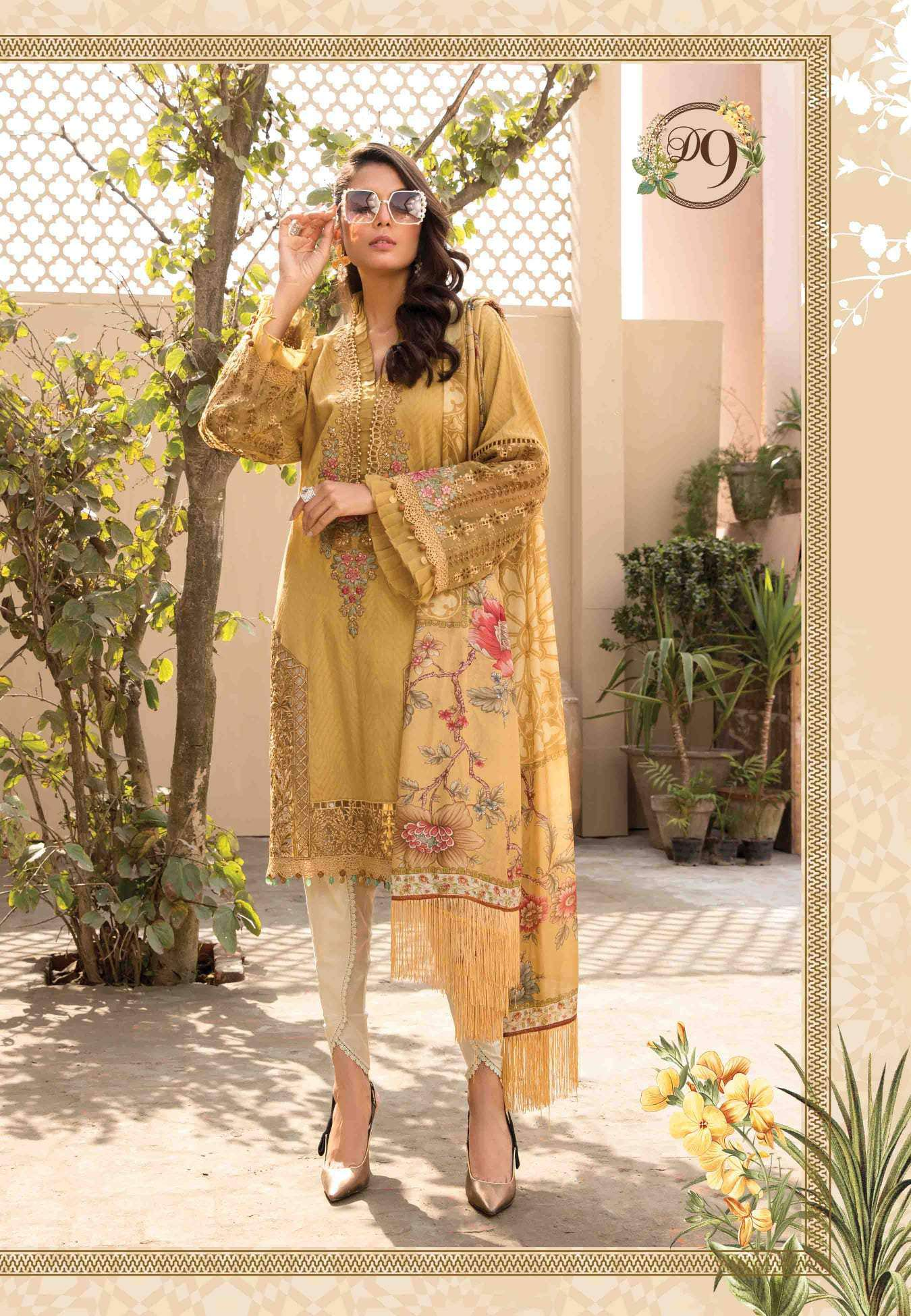 Ladies Un-Stitch Maria.B Eid Lawn Collection 2021 D#9