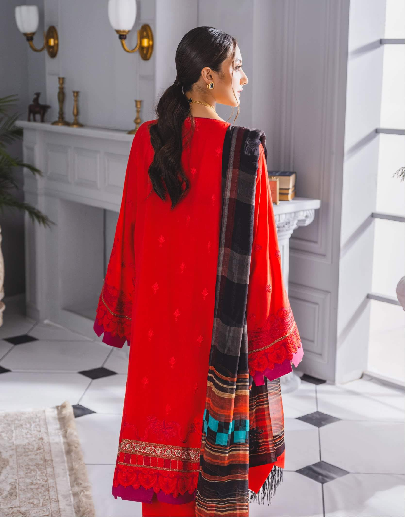 Ladies Un-Stitch Embroidered Festive Collection Mileficit (ML-210)