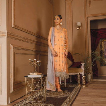 Ladies Un-Stitch Sanaya Luxury Chiffon Gul Bano (GB-006 GAUHAR)