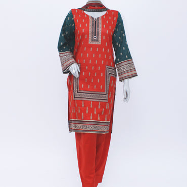 Ladies Stitch 3Pc Printed Lawn Suit (Bin Saeed) D#04