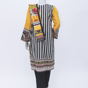 Ladies Stitch 3Pc Printed Lawn Suit (Bin Saeed) D#05