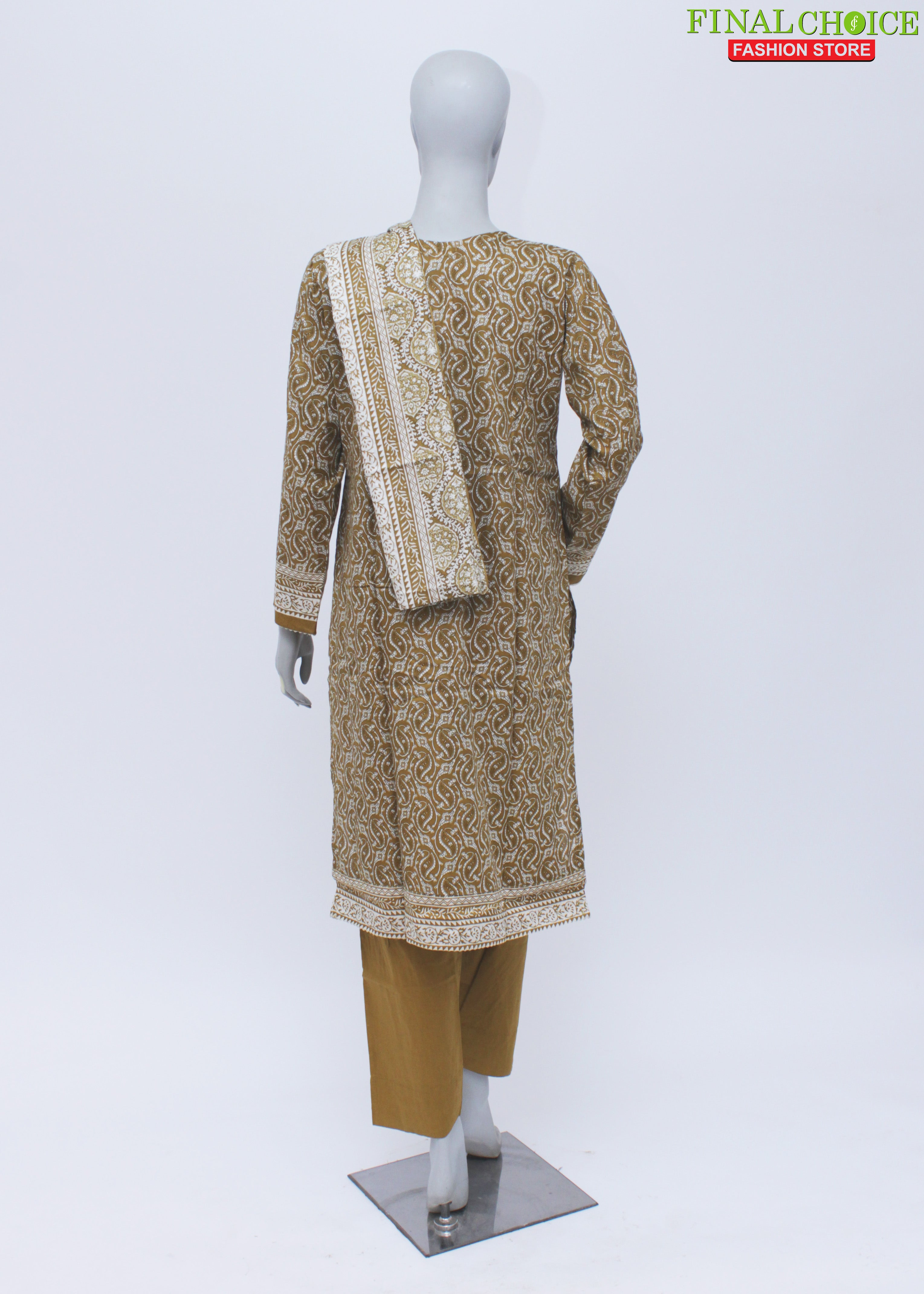 Ladies Stitch 3Pc Printed Lawn Suit (Bin Saeed) D#07