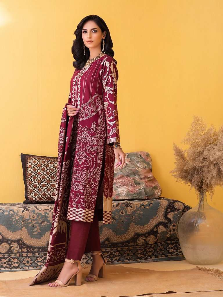 Ladies Un-Stitch Inaya Printed Lawn Collection (IP-00032B)