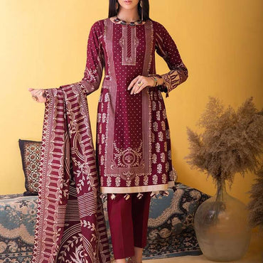 Ladies Un-Stitch Inaya Printed Lawn Collection (IP-00034A)