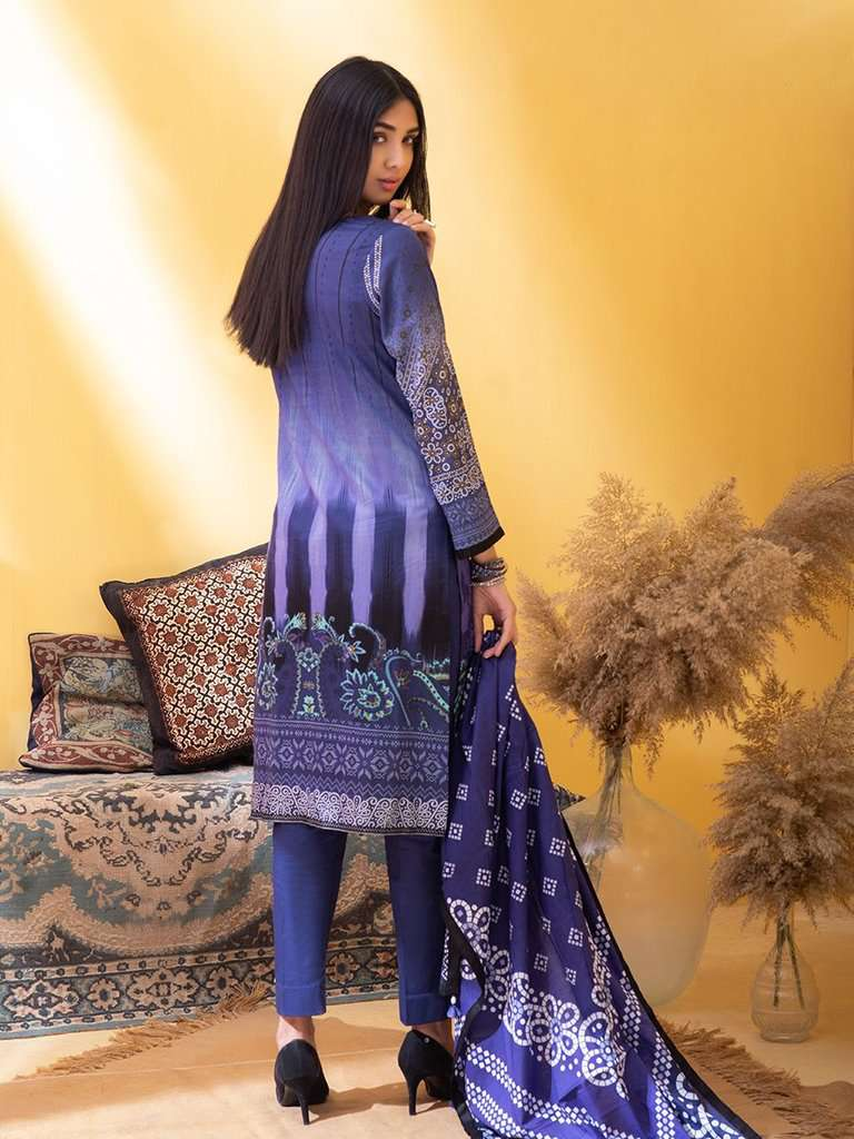 Ladies Un-Stitch Inaya Printed Lawn Collection (IP-00041B)