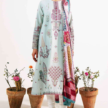 Ladies Un-Stitch Embroidered Lawn 2021 (KHUSHALA-B)