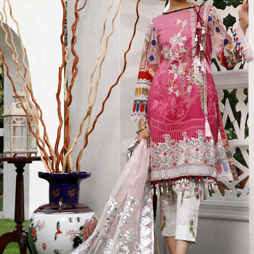 Ladies Un-Stitch Marjaan by Sifona Embroidered Lawn MEC-01-Matronit Serenade